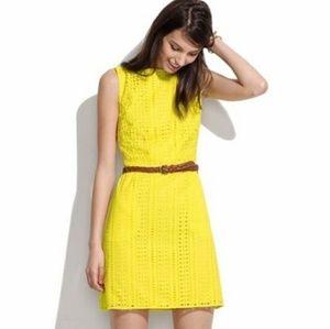Madewell Eyelet Yellow Dress w/ Pockets